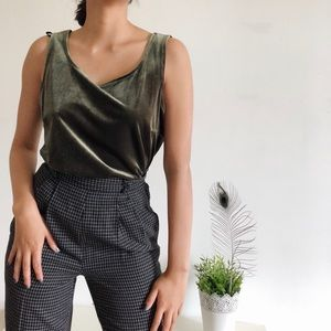 Vintage muted green top